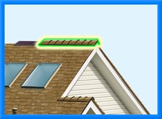 Конек на крышу из профнастила