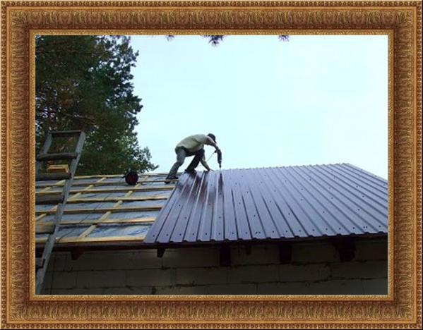 Крыша из профнастила своими руками: видеоинструкция 75