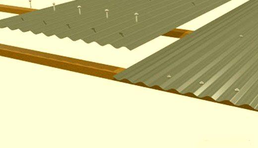 Материалы для крыши из профнастила фото