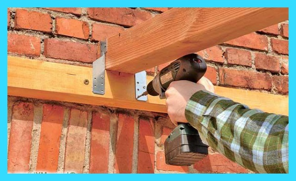 навес деревянный пристроенный к дому